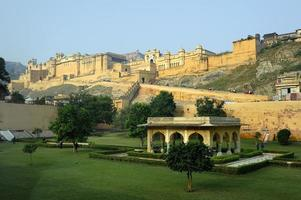 Morning light on the Amber Fort photo