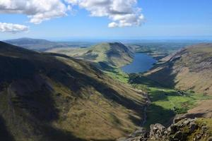 Looking down over Wast Water from Great Gables photo