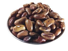 Pile of beans on a white background photo