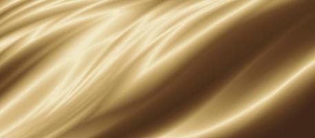 Gold luxury fabric background with copy space 3D illustration photo