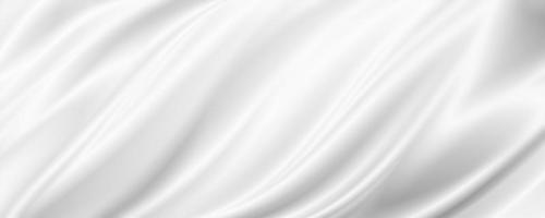 White fabric background with copy space 3D illustration photo