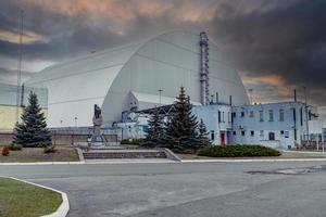 Pripyat, Chernobyl, Ucrania, 22 de noviembre de 2020 - Planta de energía abandonada en Chernobyl foto