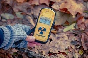 Pripyat, Chernobyl, Ukraine, Nov 22, 2020 - Radiation level in Chernobyl photo