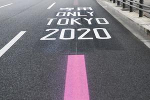 señal de tráfico tokio 2020 foto