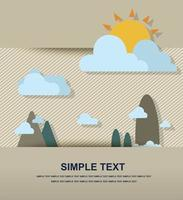 mountain landscape paper vector