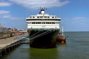 Lisbon, Portugal - 26th April 2019, Zenith cruise ship in Lisbon photo
