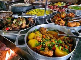Minas Gerais cuisine made on a wood stove with rice, beans, feijoada, photo