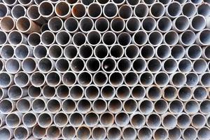 Tubos de acero para la construcción de edificios, fondo de textura foto