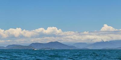 Panorama of tropical islands Ilha Grande Angra dos Reis Brazil. photo