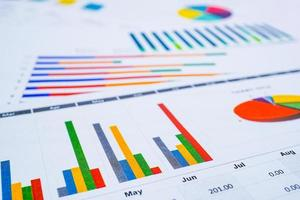 gráfico de datos de gráfico para las finanzas empresariales. foto