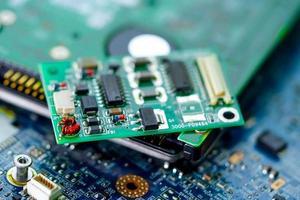 micro circuito placa principal computadora electrónica foto