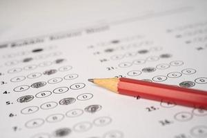 Answer sheets with Pencil drawing fill photo