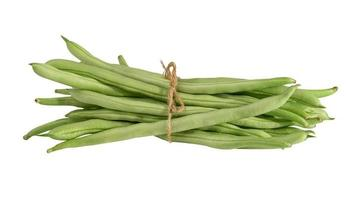 Green beans isolated on white background with clipping path. photo