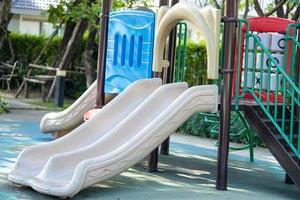 Playground for kid children having fun photo