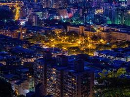 Night high angle view of the Jingmei area photo