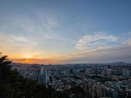 Sunset high angle view of the Jingmei area photo