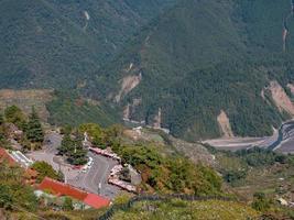 Sunny mountain landscape in Wuling Farm photo