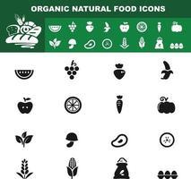 organic natural food icon vector