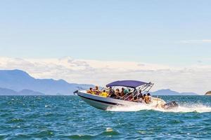Boat trip at Ilha Grande to Angra dos Reis, Brazil photo