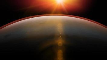 Marte planeta en el espacio exterior que muestra la belleza de la exploración espacial. foto