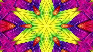 Colorful Hypnotic  Symmetric Kaleidoscope photo