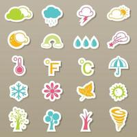 Season icons set vector