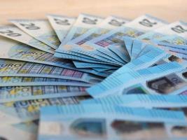 Euro notes and coins, European Union photo