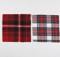 Tartan fabric sample photo