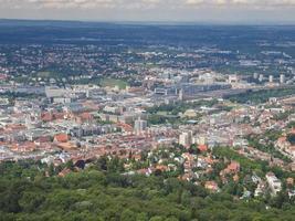 Aerial view of Stuttgart, Germany photo
