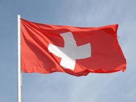 bandera de suiza foto
