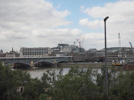 Blackfriars bridge in London photo