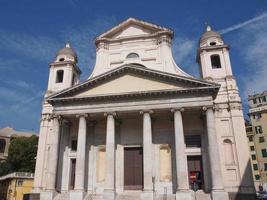 Santissima Annunziata church in Genoa Italy photo