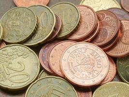Fondo de monedas de euro foto