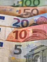 euro billetes de euro, unión europea ue foto