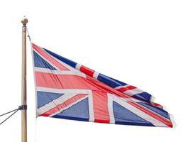 bandera del reino unido aislado foto