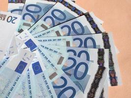veinte billetes de euro foto