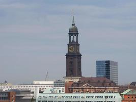 Hamburg skyline view photo