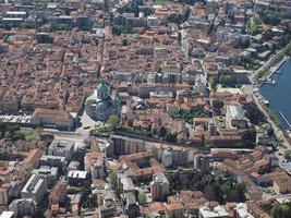 Aerial view of Como, Italy photo