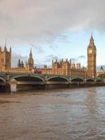 Puente de Westminster en Londres foto