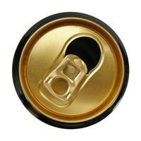 lata de cerveza, aislado, encima, blanco foto