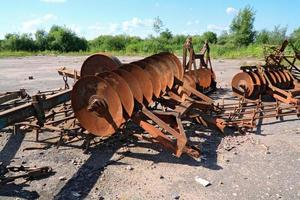 Old agricultural mechanisms photo