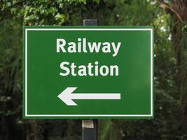 Railway station sign photo