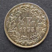 moneda de francos suizos foto