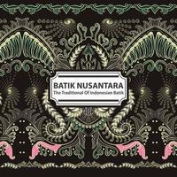 Batik Nusantara - The Traditional Of Indonesian Batik vector