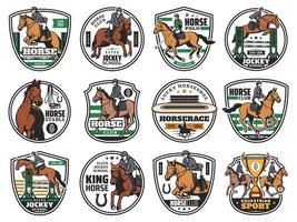 horse logotype vector set
