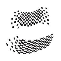 Race flag icon, simple design illustration vector