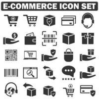 E Commerce, shopping Icon set vector