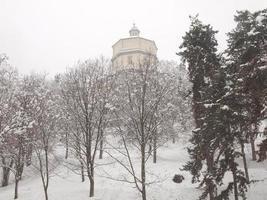 Cappuccini church under snow, Turin photo