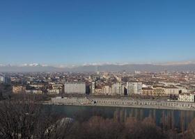 vista aerea de turin foto