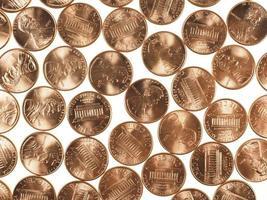 monedas de dólar 1 centavo centavo de trigo centavo foto